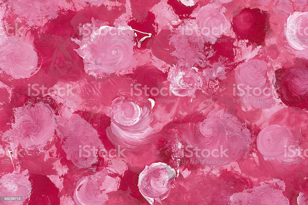 Painted Roses royalty-free stock photo