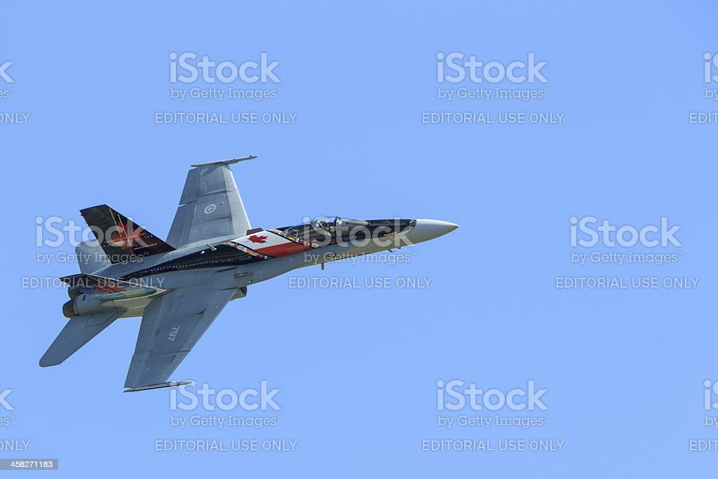 Painted Royal Canadian Air Force (RCAF) CF-18 royalty-free stock photo