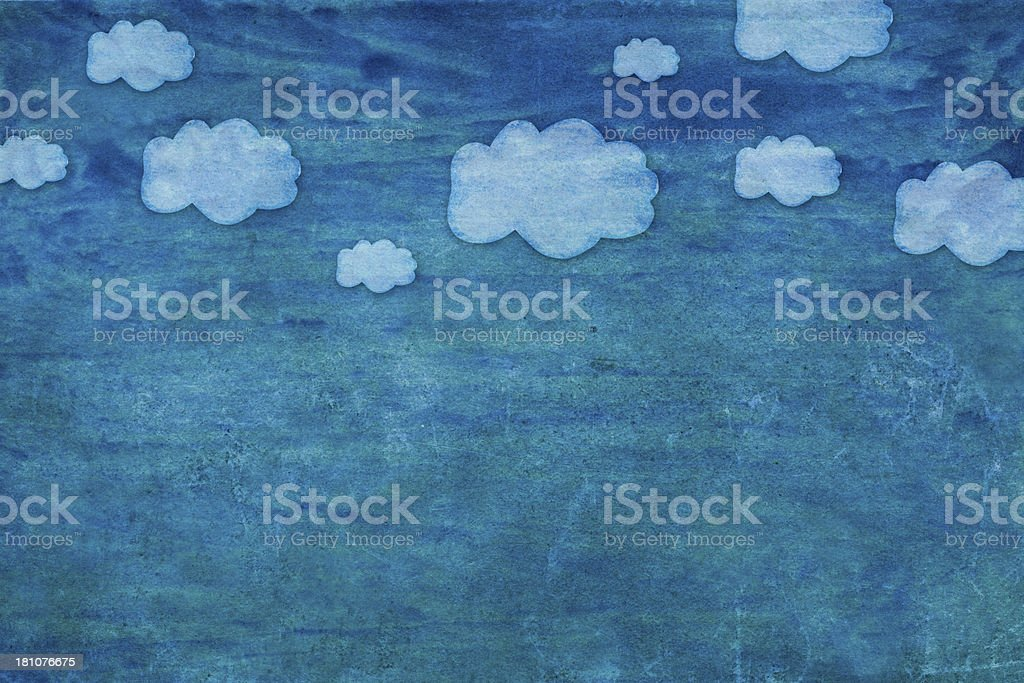 Painted Sky Background stock photo