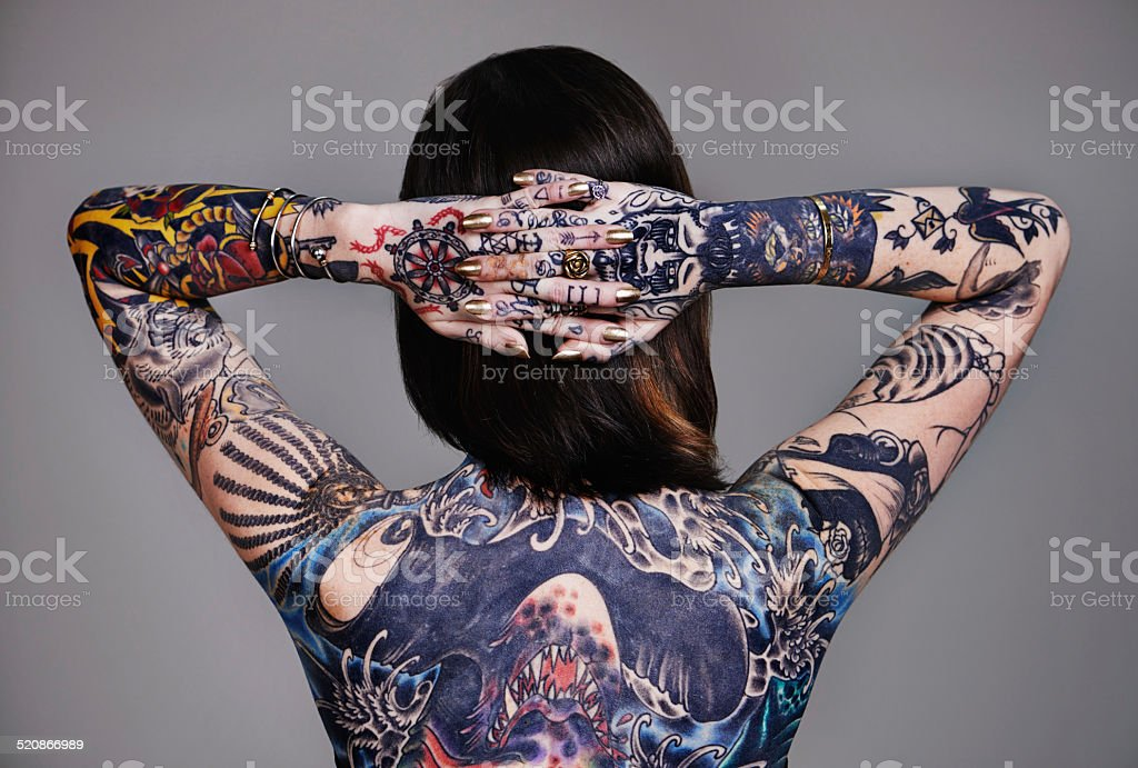 Painted to perfection stock photo