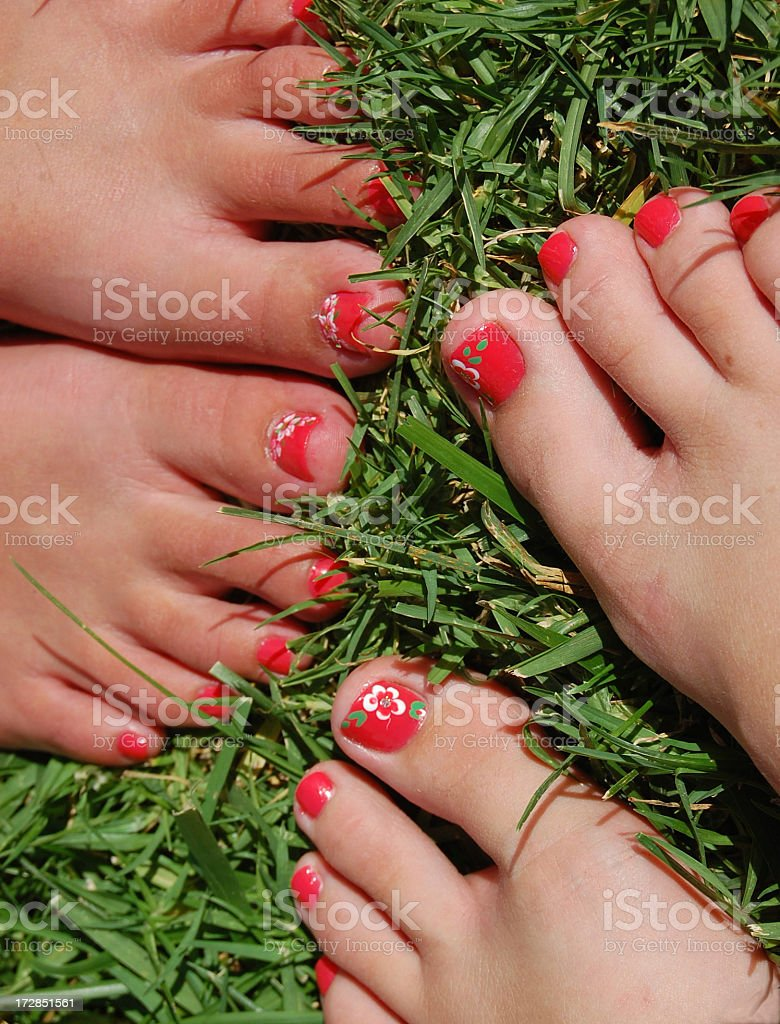 Painted Toes royalty-free stock photo
