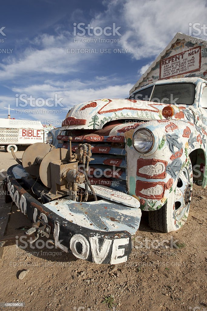 Painted Truck at Salvation Mountain royalty-free stock photo