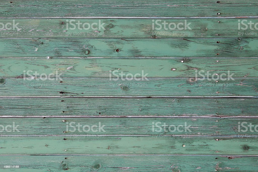 Painted turquoise wooden background stock photo