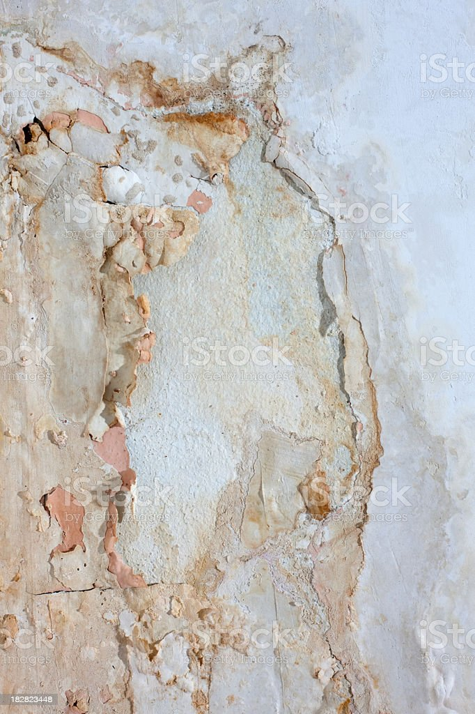 Painted wall background, affected by damp. royalty-free stock photo