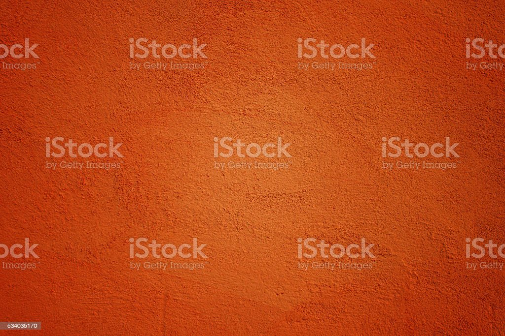 Painted Wall in Ocher Color stock photo