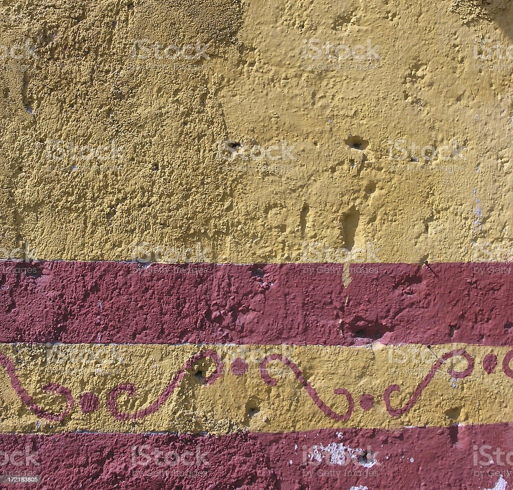 Painted Wall, Mexico royalty-free stock photo