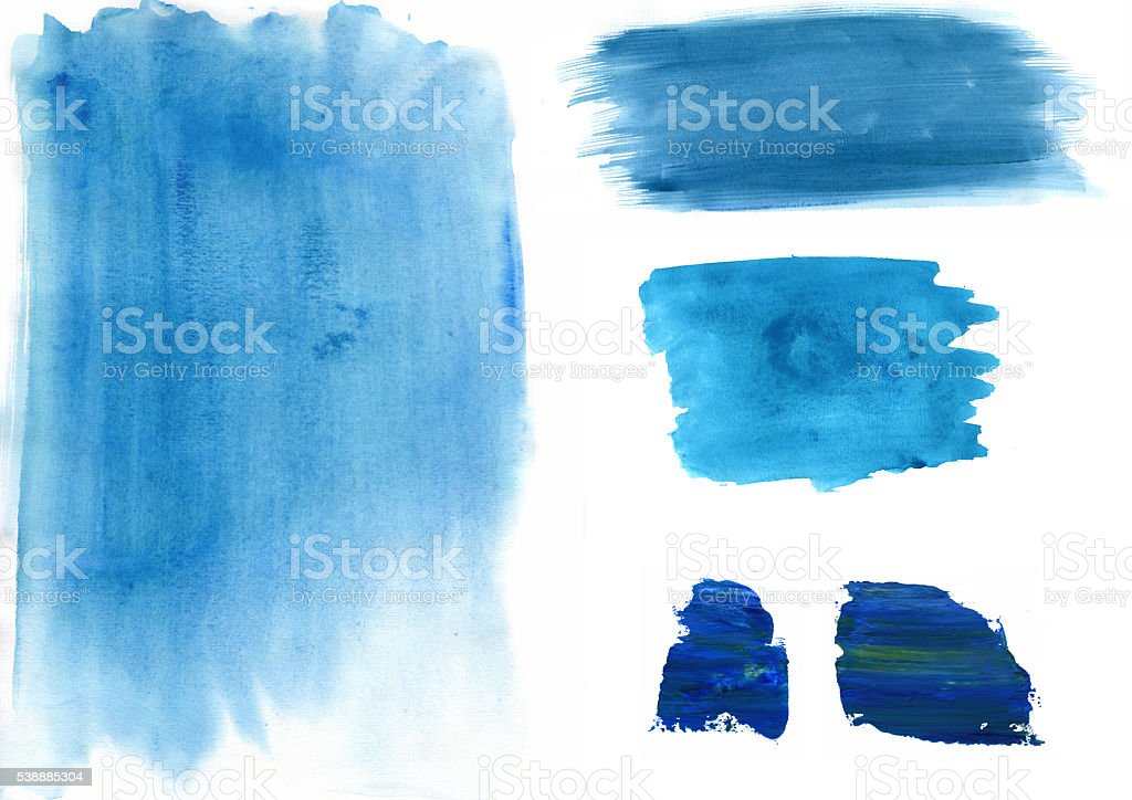 Painted Water colour Spodges, cirles stock photo