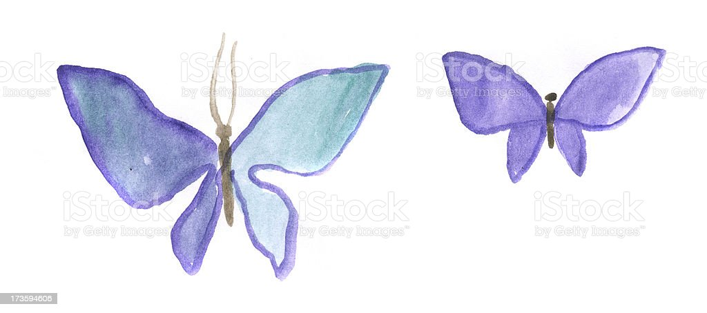 Painted watercolor butterfly royalty-free stock photo