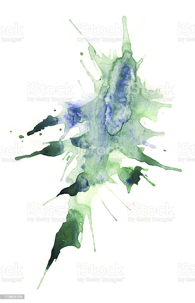 Painted watercolor mess royalty-free stock photo