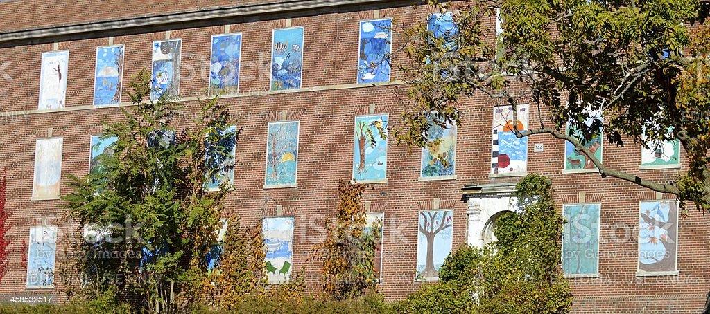 Belle fenêtre repasser photo libre de droits