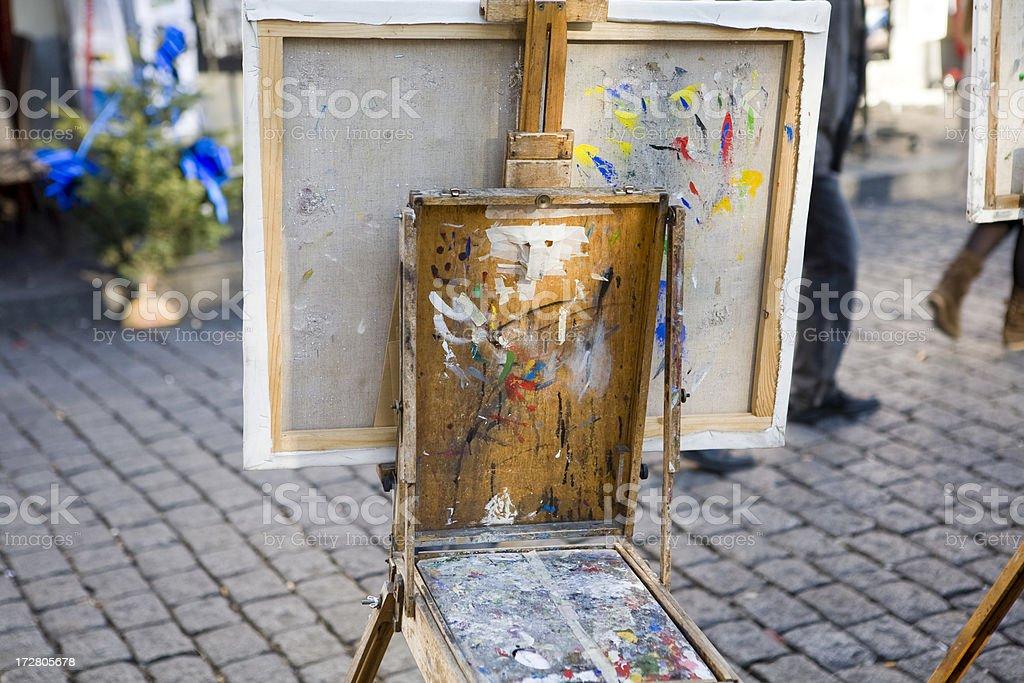 'Painter canvas on Montparnasse, Paris, France' stock photo