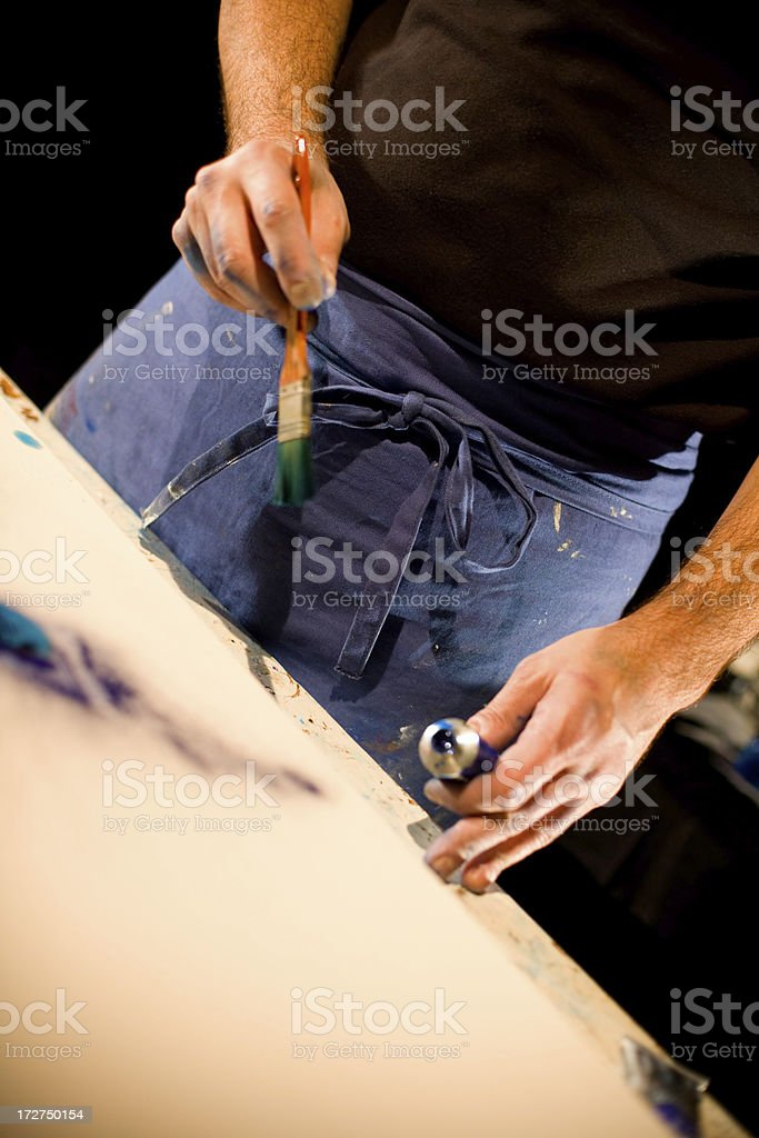 Painter dress royalty-free stock photo