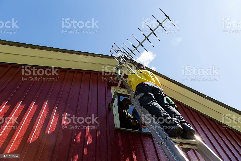 Painter from below royalty-free stock photo