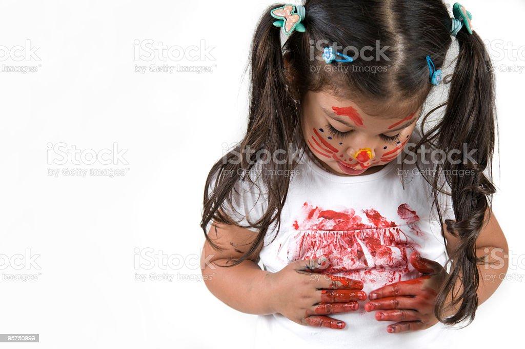 Painter Girl royalty-free stock photo