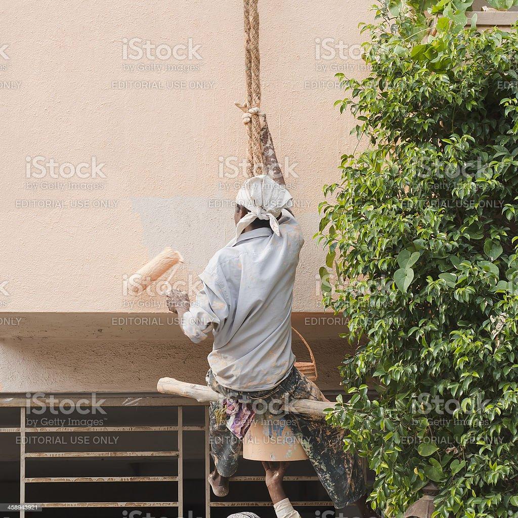 Painter, India stock photo