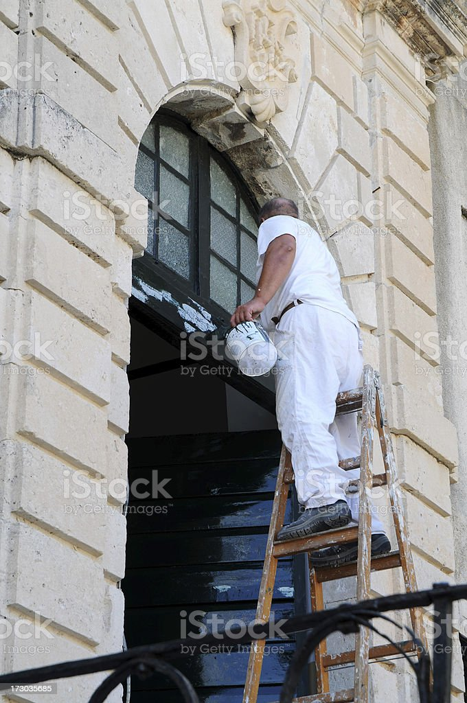 painter man stock photo