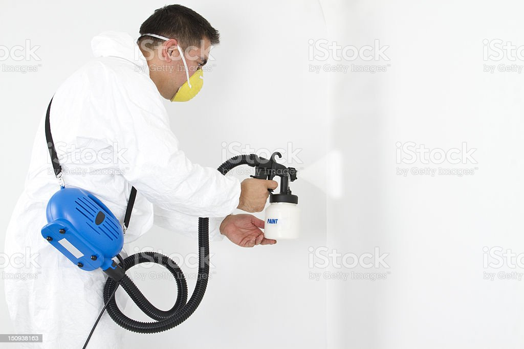 painter on white background stock photo