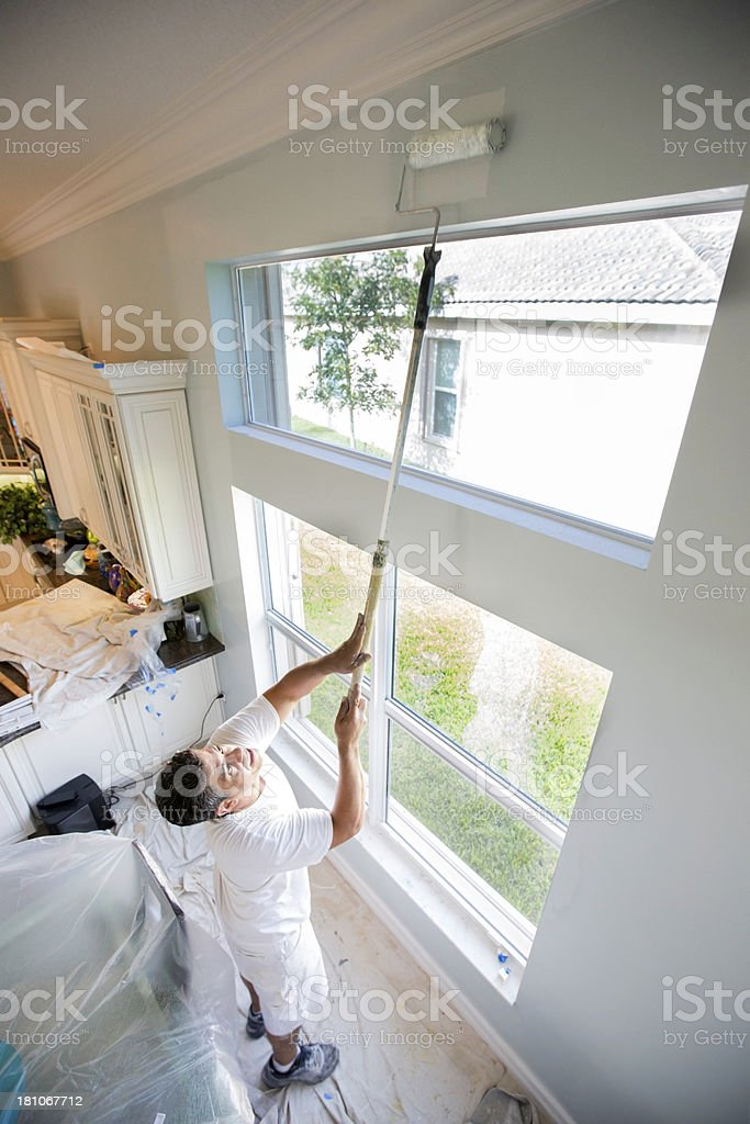 painter painting wall royalty-free stock photo
