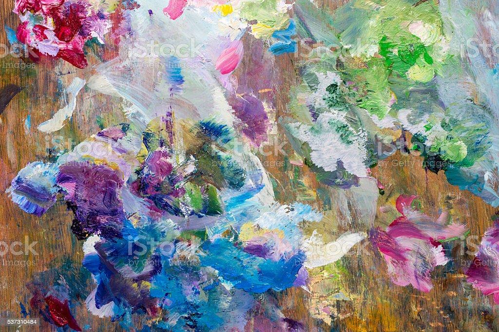 Painter palette background stock photo