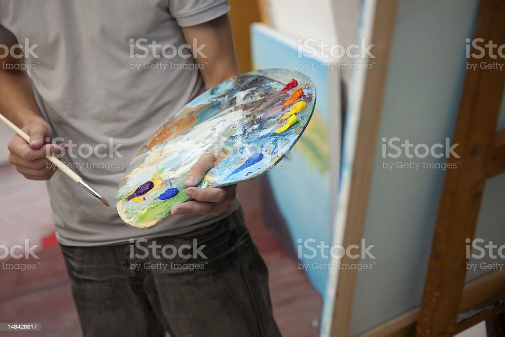 painter royalty-free stock photo