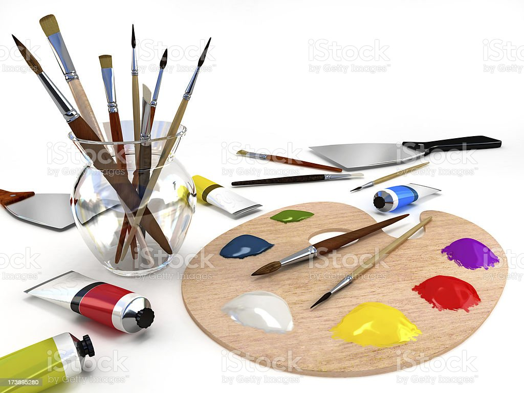 Painter tools royalty-free stock photo