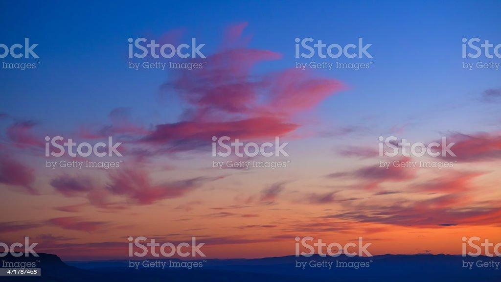 Painterly sunset. stock photo