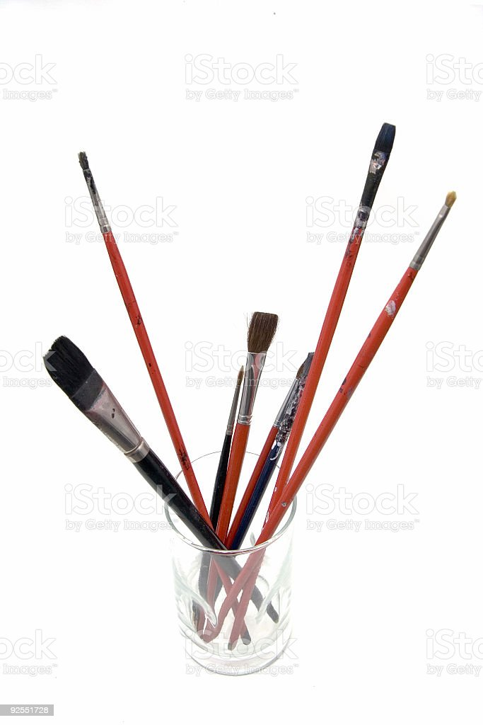 Painters brushes royalty-free stock photo