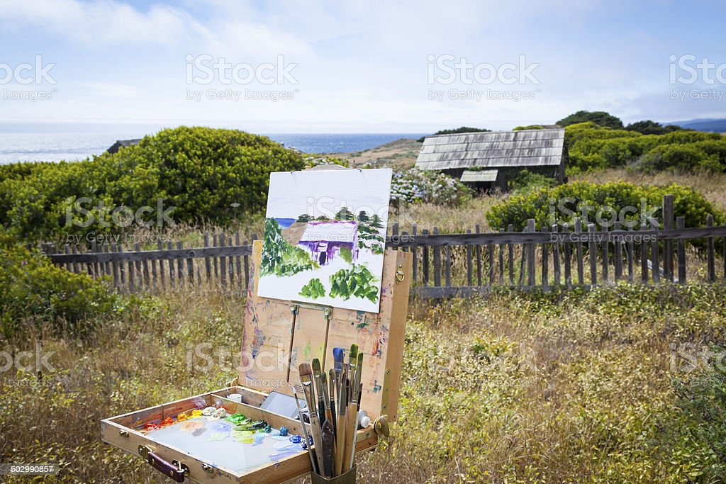 Painter's Easel stock photo