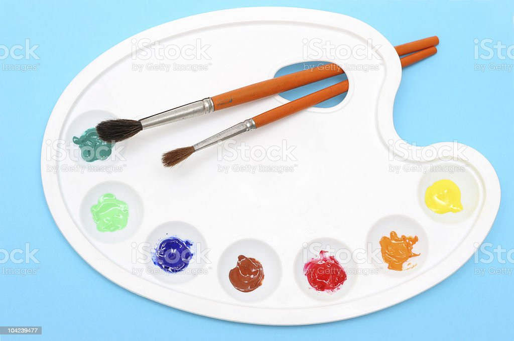 Painters Palette stock photo