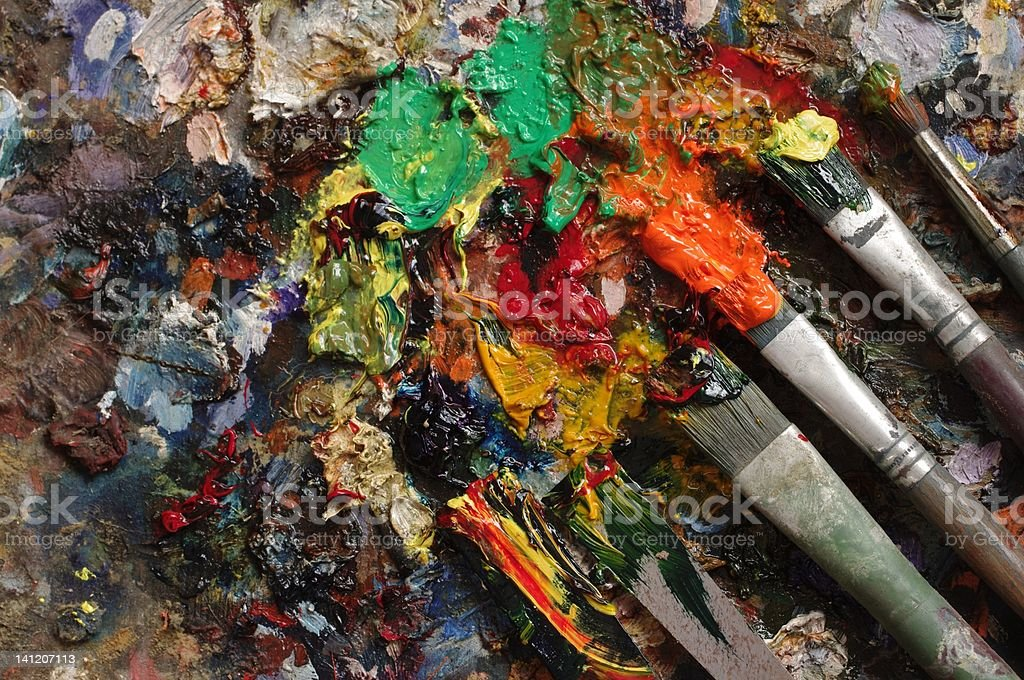 painter's palette royalty-free stock photo