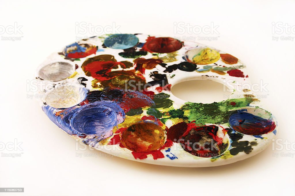 Painter's pallette (creative) stock photo