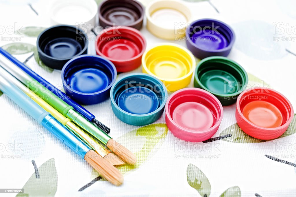 Painter's Tools, Art Supplies royalty-free stock photo