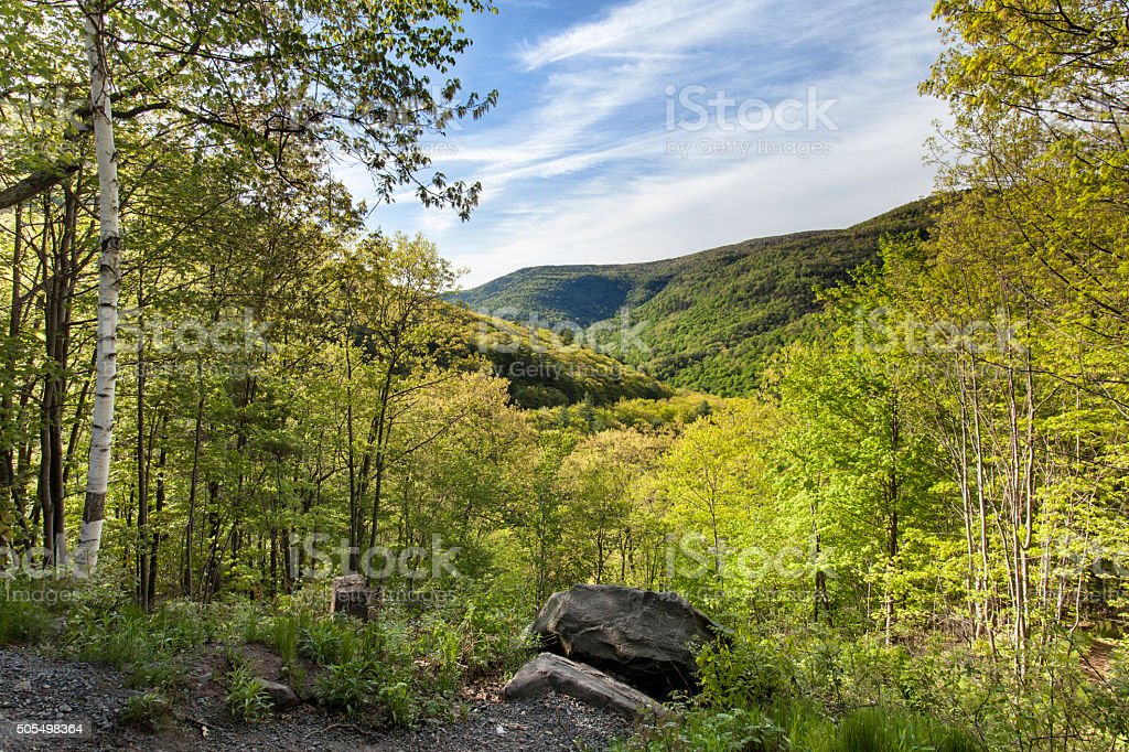 Painter's View, Catskills stock photo