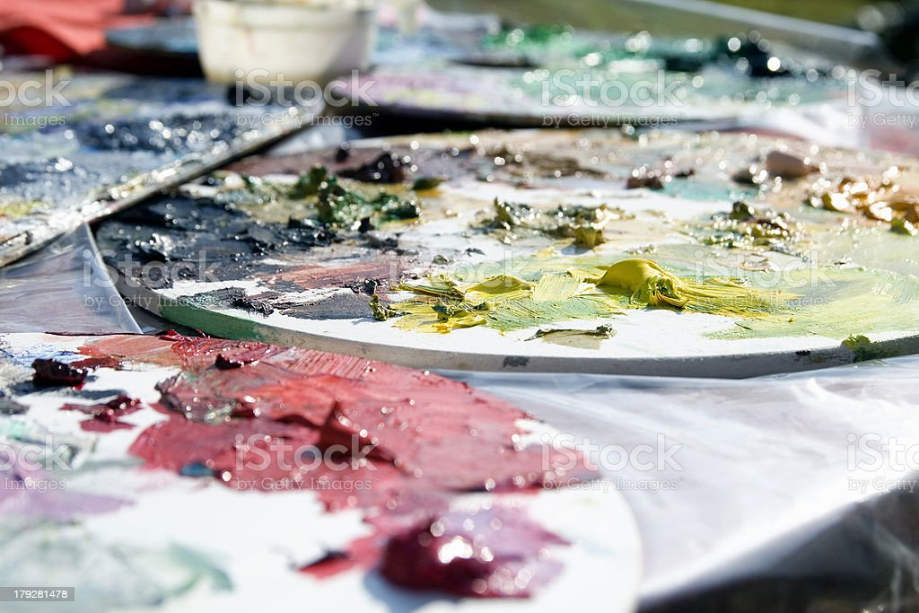 Painters workbench royalty-free stock photo