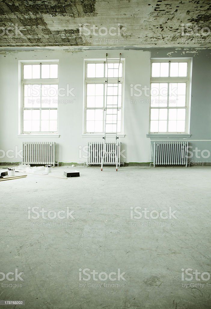 Painting a loft apartment royalty-free stock photo