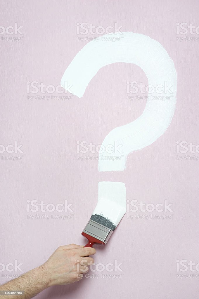 painting a question mark royalty-free stock photo
