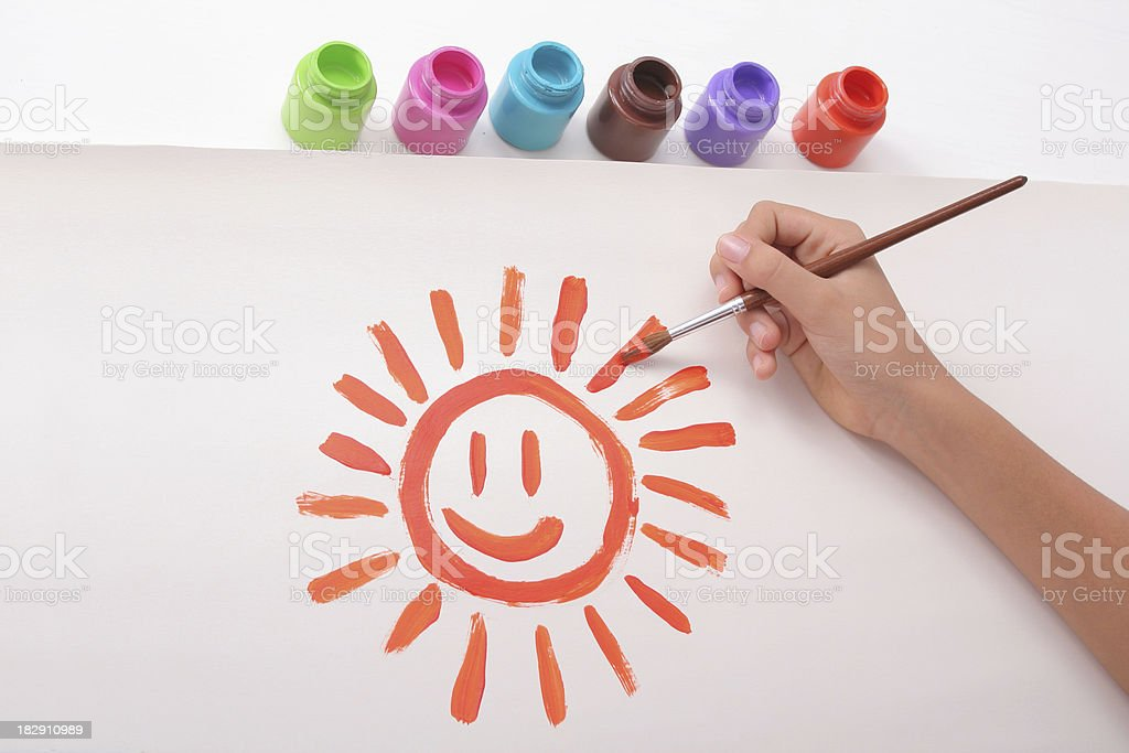 Painting A Sun royalty-free stock photo