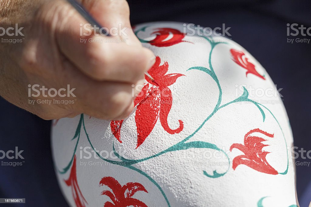 painting a vase royalty-free stock photo
