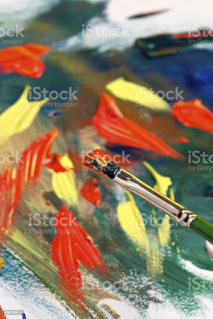 Painting abstract royalty-free stock photo
