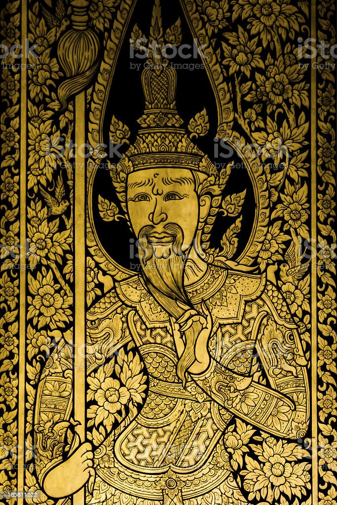 Painting Ancient art thai style royalty-free stock photo