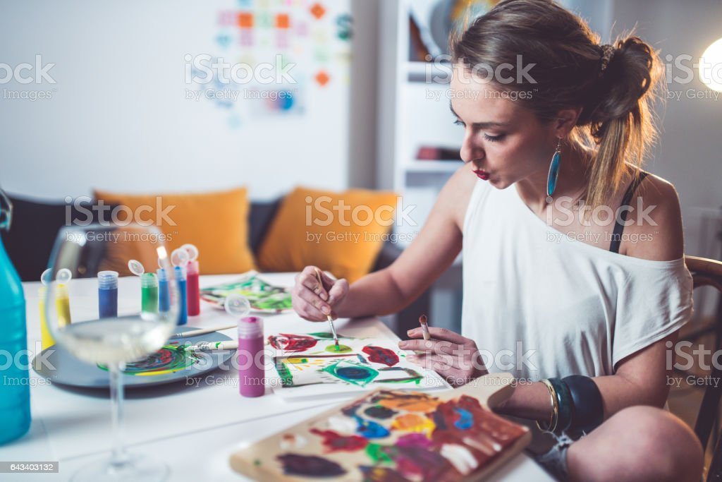 Painting and other stuff stock photo