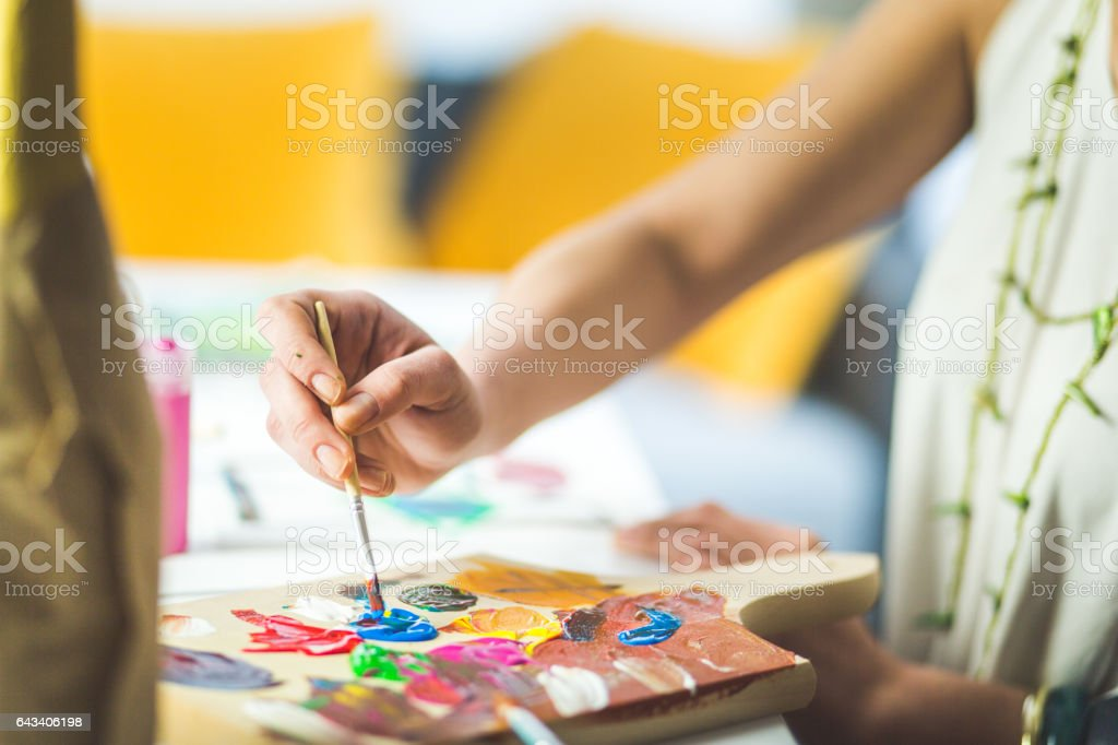 Painting and stuff stock photo