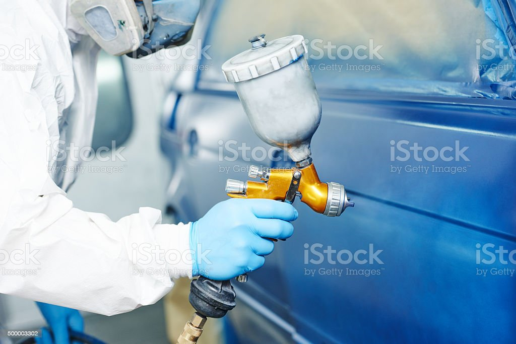 painting auto car stock photo