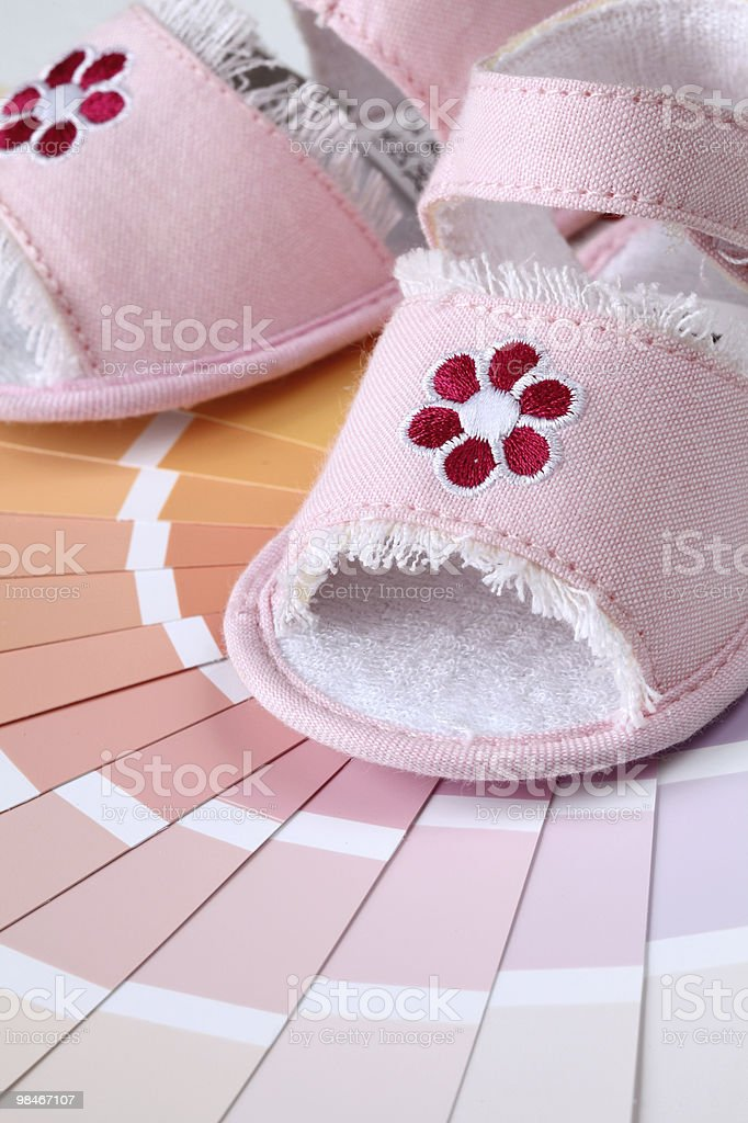 Painting baby girl's room royalty-free stock photo
