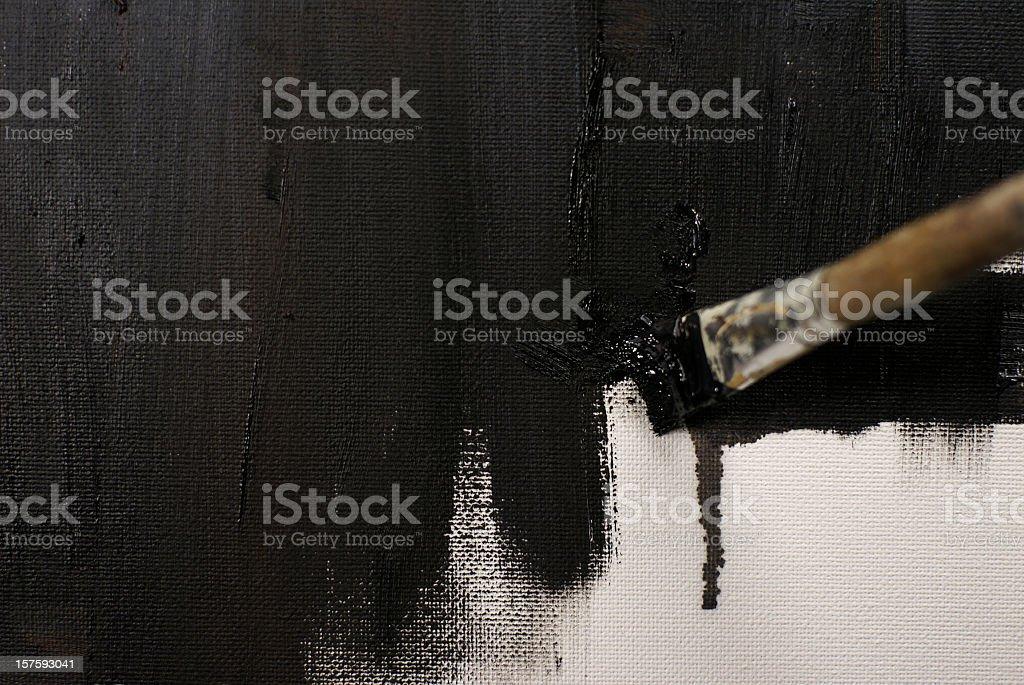 painting black stock photo