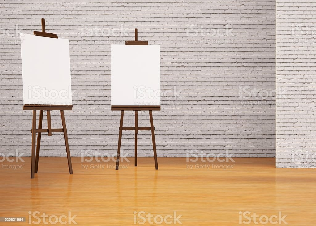Painting board Easel and space expression stock photo