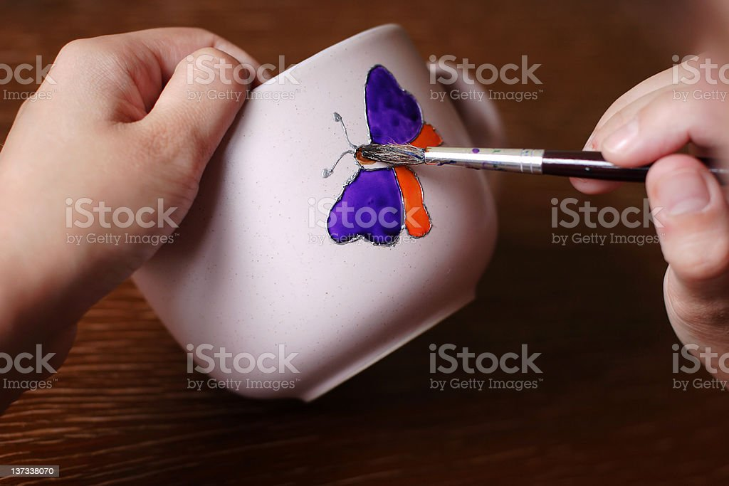 Painting butterfly royalty-free stock photo