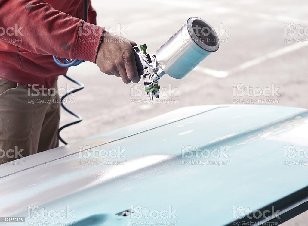 Painting car parts royalty-free stock photo