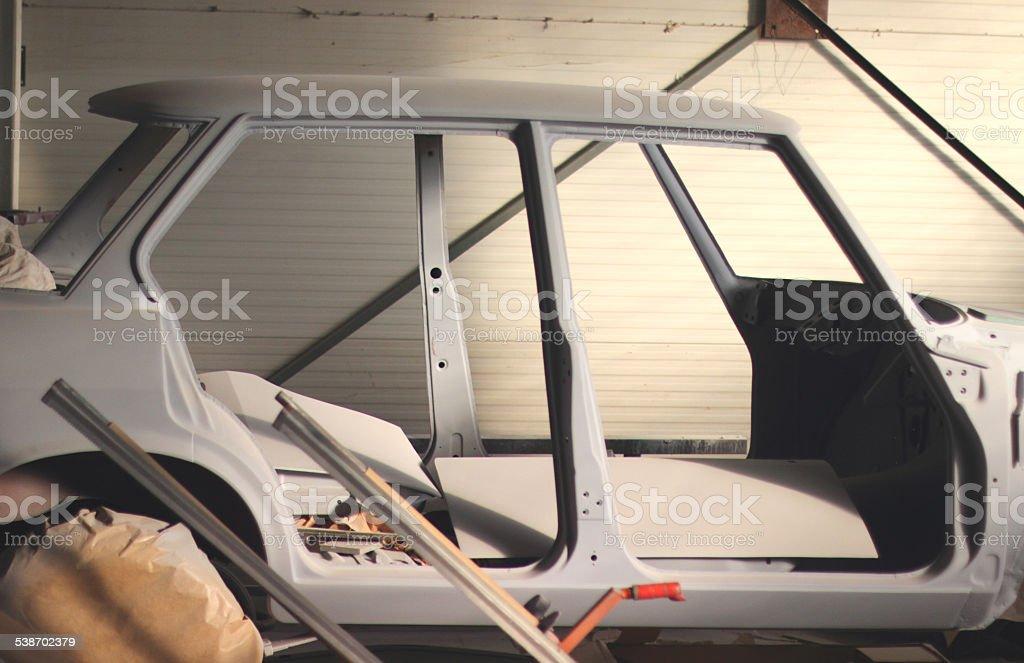 Painting car stock photo