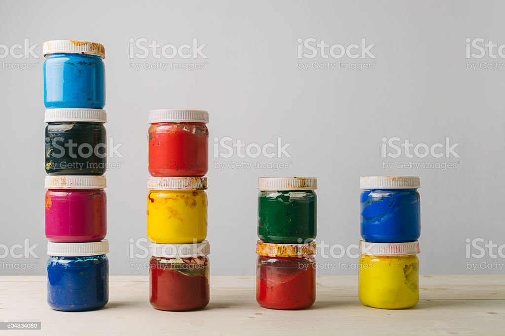 Painting colors stock photo